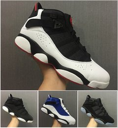 Wholesale Ring Basket - 2017 Air retro six 6 rings men basketball shoes French Blue Cool Grey Black Silver Grey Alternate Oreo Chameleon retro 6s sports shoes