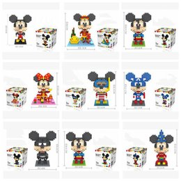 Wholesale Childrens Building Blocks - Hot Sale Mickey Building Blocks Cartoon Model Diamond Blocks for Childrens 3D Puzzle Kids Toys Educational DIY Toys High Quality