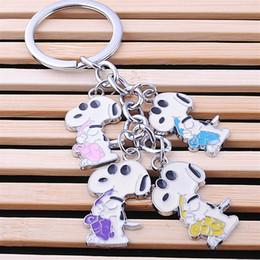 Wholesale Dog Trinkets - 2016 New lovely Haba dog keychain keyring in lot fashion key chain set a string of bag car key charm pendant trinket gift