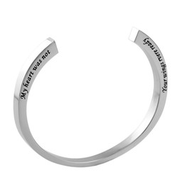 Wholesale Cheap Metal Bangles - IJB5015 Solid Metal Cremation Jewelry Bangle Cuff Bracelet One Piece Hidden Screw Memorial Urn For Ashes Wholesale Cheap