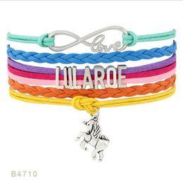 Wholesale Friendship Bracelets Jewelry - Infinity Love Lularoe Letter Bracelet Horse Charm Wrap Bracelet Designer Friendship Multilayer Weave Wrist Band Jewelry