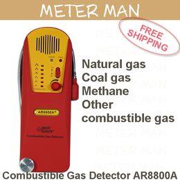 Wholesale Natural Gas Detectors - Wholesale- Handheld Natural gas Coal gas Methane Combustible gas Detector AR8800A