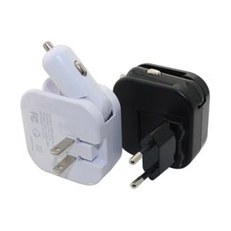 Wholesale Fastest Compact Car - 2in1 US EU Compact Folding Home Wall Charger Car Converter AC Travel Power Adapter Dual USB Port Fast Charging For iPhone Samsung Huawei