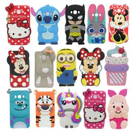 Wholesale E5 Phones - 3D Cute Cartoon Silicone Case For Samsung Galaxy Win Grand 2 Duos Plus Neo Case Cover For Samsung Galaxy Core 2 A3 A5 A7 E5 E7 Phone Cases