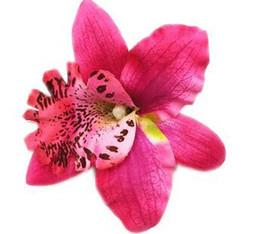 Le teste di orchide all'ingrosso online-Copricapo del fiore della spiaggia della vacanza della capretta della Boemia con il capo della clip della testa della testa dei capelli della clip del Brooch della clip Commercio all'ingrosso