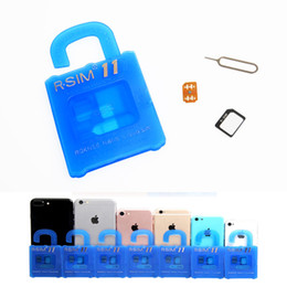 Wholesale Micro Sim Card Cutter 4s - R-SIM 11 RSIM 11 Plus Unlock Sim Card RSIM11 RSIM10+ for iPhone 4 4s 5 5s se 6 6s plus IOS 9 9.1 9.X GSM CDMA WCDMA