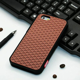 Wholesale Van Wholesalers - Brand Waffle Soft Silicone Van Colorful Shoe Sole Back Biscuit Case for iphone X 8 7 6S Plus 5S SE