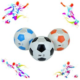 Wholesale Football Angels - New Original Music Angel Football Mini Portable Wireless Bluetooth Speaker For Mobile Cell Phone With Mic Hands-free