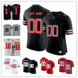 Wholesale Mens Army Shorts - Custom Mens Ohio State Buckeyes College Football Limited white red black gray Personalized Stitched Any Name Number 16 Barrett Jerseys S-3XL