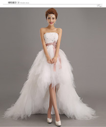 Wholesale Long Dresses Low Prices - 2017 low price the bride royal princess wedding dress short train formal dress quality design wedding growns new arrival for party dresses
