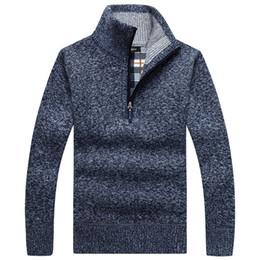 Wholesale Long Zip Sweaters - Fashion Brand Men's Pullovers Casual Warm Zip Sweater Fleece Hoodie sweatshirt Casual Hoodies For Autumn Winter