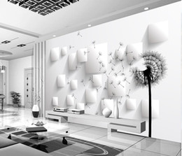3Д одуванчик ТВ фон стены росписи 3D обои 3D обои для ТВ фоне от Поставщики влагостойкие обои кухня