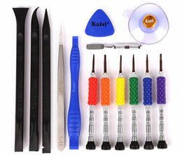 Wholesale Apple Tools Kit - Kaisi 14 in 1 Precision Screwdriver Opening Tool Kit iPhone Repair Tool sets for iPhone 7 6 6s 5 5s Repair Tools K-T3601