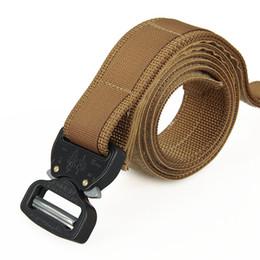 Nueva llegada Tactical Belt Men Belt Out Cinturón Entusiastas tácticos engranajes para el envío libre al aire libre CL11-0027 desde fabricantes