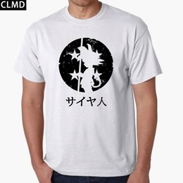 Wholesale Green White Dragon - New Fashion 2017 cotton The Dragon Ball print funny men T Shirt To Beat Goku-Krillin casual o-neck mens Tshirt Tee shirt 2017