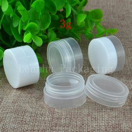 Argentina 3g X 100 Empty skin care cream jar, small sample containers, Mini travel bottles set, Pharmaceutical bottle, balm plastic pot cheap plastic cream bottle set Suministro