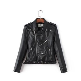 Wholesale Pu Leather Jackets Lady - 2016090920 2016 Mujer Women Leather Jacket Xdg100 And The Wind Zipper Bright New Ladies Leather Coat Jacket Women