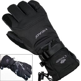 Wholesale Snowboard Gloves Waterproof - 1 Pair Men's Ski Gloves Snowboard Gloves Snowmobile Motorcycle Riding Winter Gloves Windproof Waterproof Unisex Snow Free Shipping