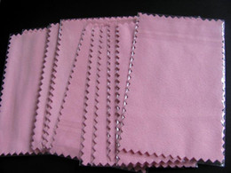 Wholesale Wholesale Polishing Cloth For Jewelry - Epackfree 200pcs 10*7cm PINK white green blue Silver Polish Cloth for silver wiping cloth Jewelry Cleaner suede fabric material