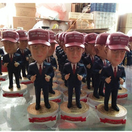 Wholesale Dance One - 18cm U.S. president Donald John Trump and Hillary Diane Rodham Clinton resin crafts doll home accessories Furnishing articles
