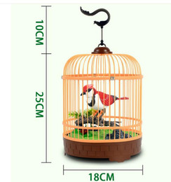 Wholesale Bird Cage Paper - Real West Knight Sound controlled birdcage Artificial cage Electric Birds voice toys wholesale 3pcs