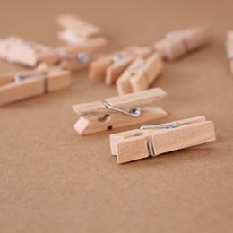 Toptan Çok Küçük Mayın Boyutu Için 35mm Mini Doğal Ahşap Klipler Fotoğraf Klipler Clothespin Craft Dekorasyon Klipler Pegs TT367 supplier wholesale wooden small clips nereden toptan ahşap küçük klipler tedarikçiler