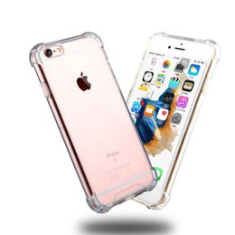 Wholesale Acrylic Transparent Bags - Shockproof Acrylic TPU Bumper Side Phone Case For iPhone 7 6s 6 plus se 5s 5 Sumsang S8 S7 S6 edge Opp Bag