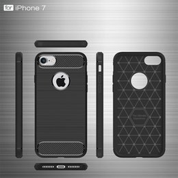 Wholesale Ultimate Fit - 2016 Fashion Rugged Armor Hybrid Carbon Fiber Shockproof The Ultimate Experience Hard Case Cover for iPhone 7 6S 6 plus Free Shipping