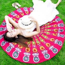 2020 manteles al aire libre 150cm Toalla de playa redonda Mandala Bohemia gasa impresa servilleta cubre mantel de verano Moda al aire libre chal de playa envuelve esteras de yoga rebajas manteles al aire libre