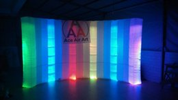Wholesale Show Tents - Popular Item Light Curve Inflatable LED Wall For Office, Trade show,Exhibition Decoration 3.6 m L*2.1 mH