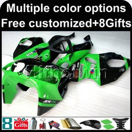 Wholesale 98 Zx7r - 23colors+8Gifts GREEN Body motorcycle cowl for Kawasaki ZX-7R 1996-2003 96 97 98 99 00 01 02 03 ZX 7R 1996 2003 ABS Plastic Fairing