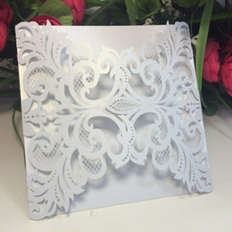 Wholesale Business Card Envelopes - Wholesale- 20Pcs Delicate Carved Butterlies Romantic Wedding Party Invitation Card Envelope Invitations for Wedding Business Party Birthday