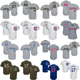 Wholesale Custom Chicago Cubs Jersey Memorial Day Green Salute to Service Father Mather Javier Baez Kris Bryant Anthony Rizzo Kyle Schwarber