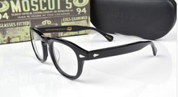 Wholesale Solid Hinges - HOT SALE-2017 Moscot lemtosh eyewear johnny depp glasses top Quality brand round eyeglasses frame with Arrow Rivet 1915 myopia for men women