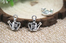Wholesale Antique Water Can - 100pcs-Watering-Can-Charms-Antique-Tibetan-silver-Watering-Can-Charms-pendants-13x15mm