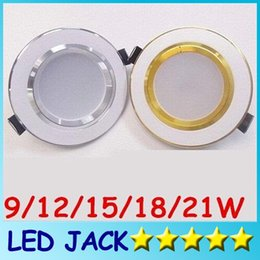 Wholesale 12w Led Downlight Inch - Wholesale- X10 (Silver Goldend + White) Style 2.5 3 3.5 4 6 Inch SMD Led Downlight AC 110-240V 9W 12W 15W 18W 21W Led Ceiling down Lights