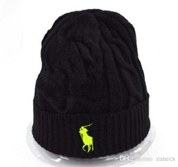 Wholesale Skull Womens - Mens Womens skullies winter knitted hat beanies warm bonnet enfant wool cap striped casual caps gorro