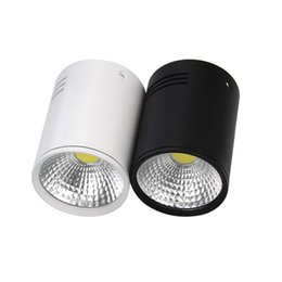 Wholesale high power cob - led downlight Surface Mounted 7W 10W 15W 25W 30W super brightness Indoor down for home Lighting AC85-265V High Power COB led ceiling lamp