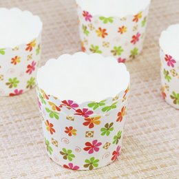 Wholesale Paper Cupcake Greaseproof - 150pcs Lot Flowers Animal Design Cupcake Wrappers High Temperature Muffin Baking Cups Greaseproof Paper Cupcake Liner