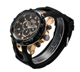 Wholesale Big Bang Watch Strap - 2018 New Men Sports Watch Luxury Watches Sports Big Dial Quartz Wristwatches Brand calendar dial Rubber Strap Big Bang Gift for men reloj