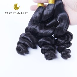 Wholesale Chinese Processed Remy Hair - Unprocessed BrazilianHair Weave Peruvian Malaysian Indian Remy Virgin Hair Extensions Natural Color Loose Wave Wavy Human Hair Free Shipping