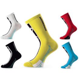 Wholesale Wholesale Bike Tubes - Sports Socks New Bike riding long tube running soccer sock Moisture Wicking For Men Factory Outlets Multi Color Optional 7 5yk F