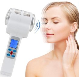Wholesale Ultrasound Eye - Ultrasonic Cryotherapy Hot Cold Hammer Lymphatic Face Lifting Massager Ultrasound Cryotherapy Facial Body Beauty Salon Equipment