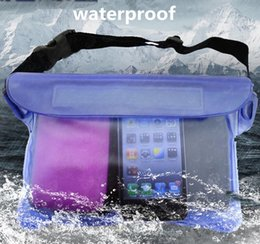 Wholesale Water Drift Bags - Waterproof Pouch Universal Waterproof Dry Pack Outdoor Swimming Drifting PVC Waist Pack cell Phone Cover Bag