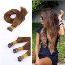 Wholesale Cheap Keratin - Cheap Human Remy Silky Straight Blonde Keratin Stick I Tip Pre Bonded Micro Fusion Hair Extensions Salon Supply Tangling Free