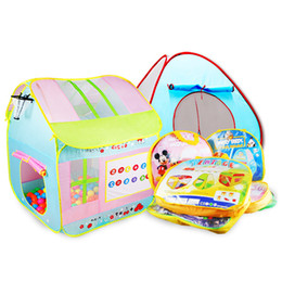 Wholesale House Home Toys - Kids Toy Tents Carton Beach House for Boys Girls Portable Home Outdoor Camp Children Christmas Gift