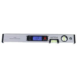 Wholesale Inclinometer Angle Finder - 400mm Digital Angle Finder Level 360 Degree Range Spirit Level Upright Inclinometer with Magnets Protractor Ruler Blue Backlight