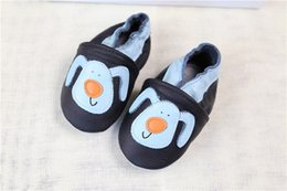 Wholesale Shoes Baby Dog - Pretty Baby Shoes Babe First Walkers Knitting Cartoon Puppy Printed Dog with Leather Low shoes Soft Soled Comfortable Slip-On Walk shoes