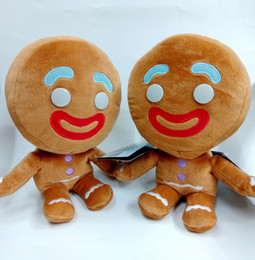 "Wholesale Gingerbread Man Wholesale - Hot Sale 3pcs Lot 9"" 23cm Gingerbread Man SHREK 4 plush Doll Soft Toy For Child Best Gifts SR-002"