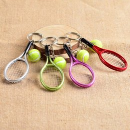 Wholesale Mini Tennis Keychain - New arrival Mini tennis racket keychain creative personality publicity small gifts R158 Arts and Crafts mix order as your needs